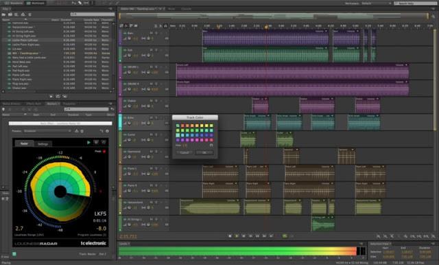 برنامج مونتاج الصوت للكمبيوتر - Adobe Audition CC مجانا