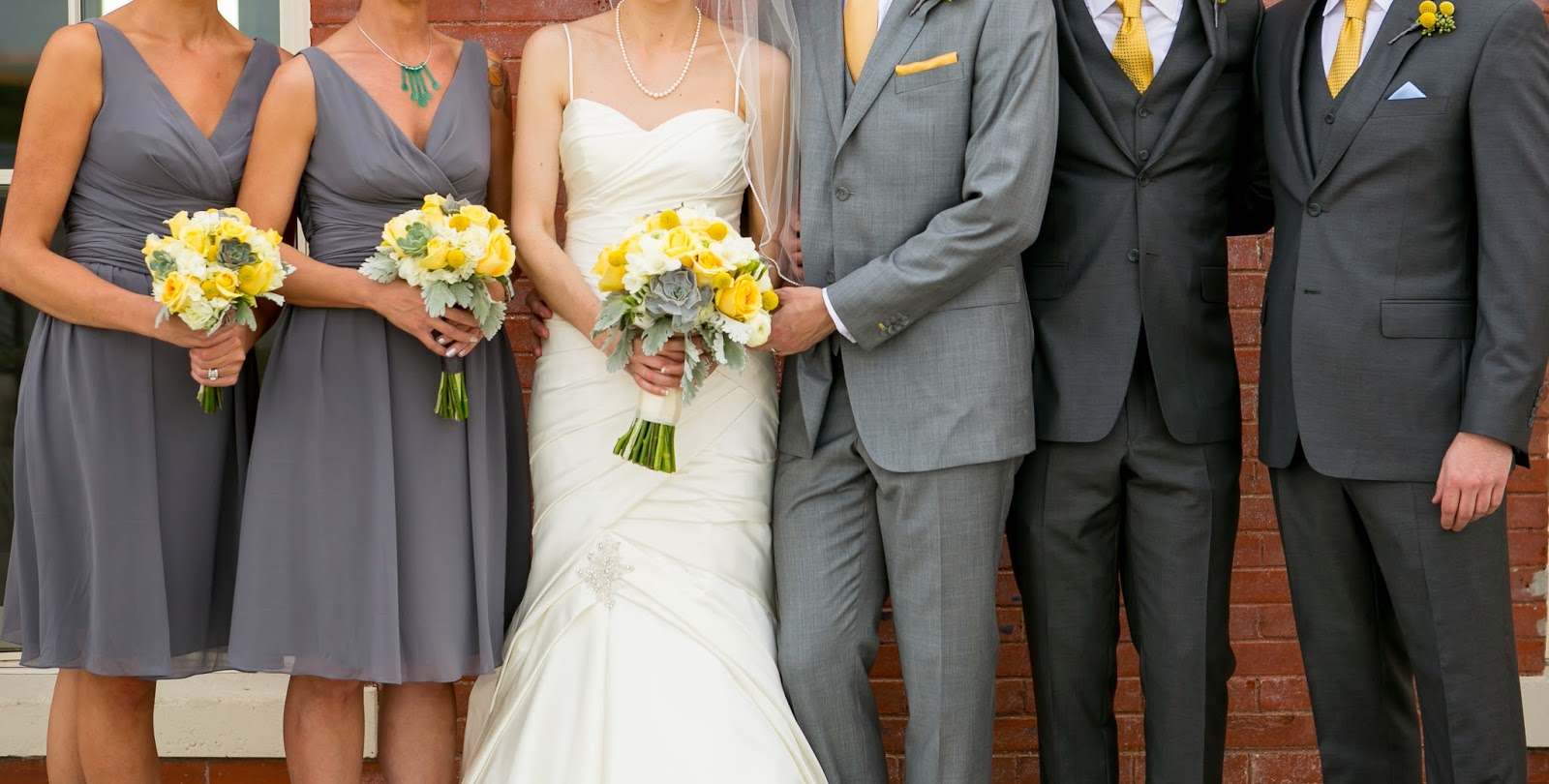 Yellow And Grey Wedding Party Colors