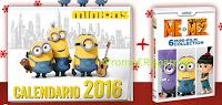 Logo Calendario + DVD Minions Cattivissimo Me in edicola