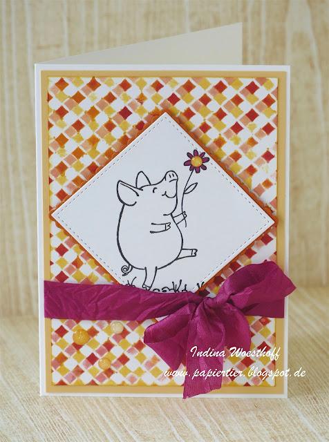 Glücksschweinchen | papiertier Indina | Stampin' Up! | This Little Piggy