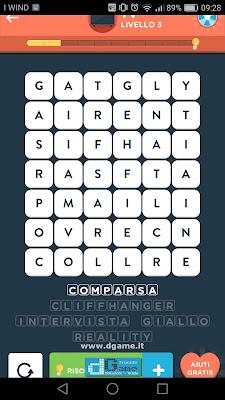 WordBrain 2 soluzioni: Categoria Tv (6X7) Livello 3