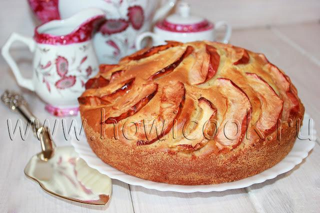 рецепт яблочного пирога на сметане с пошаговыми фото