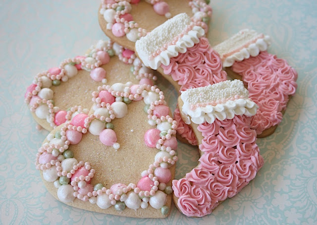 Galletas decoradas de navidad pink christmas - Mesas de navidad decoradas sencillas ...