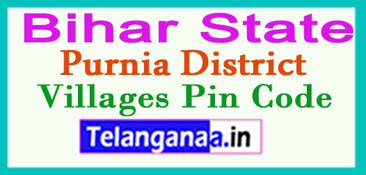 Purnia District Pin Codes in Bihar State
