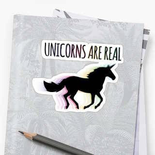 Unicorns are real sticker