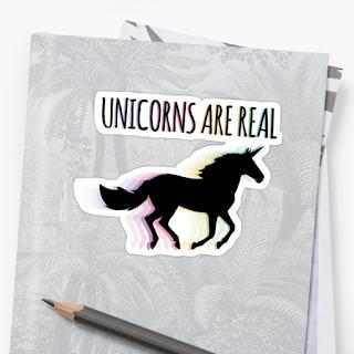 Unicorns are real sticker