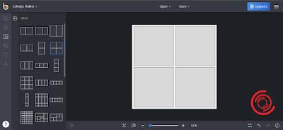 Nah jika kalian ingin mengedit 2 foto jadi 1 atau 4 foto jadi 1 silakan kalian pilih Grid