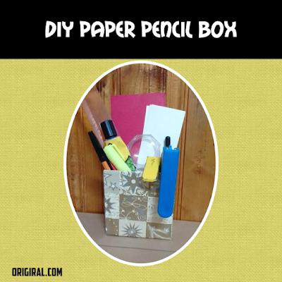 diy paper pencil case