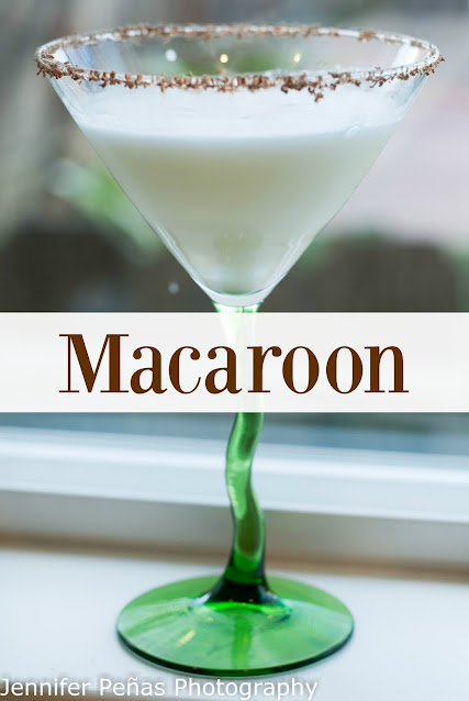 Macaroon cocktail for National Macaroon Day.