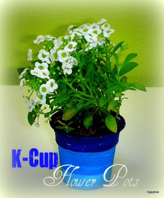 Tippytoe Crafts K Cup Flower Pots