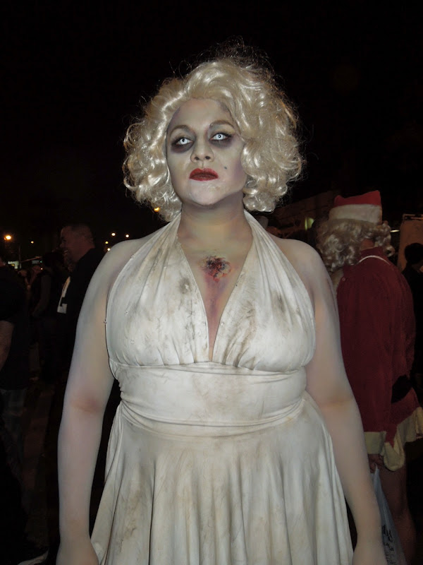 Zombie Marilyn Monroe West Hollywood Halloween Carnaval