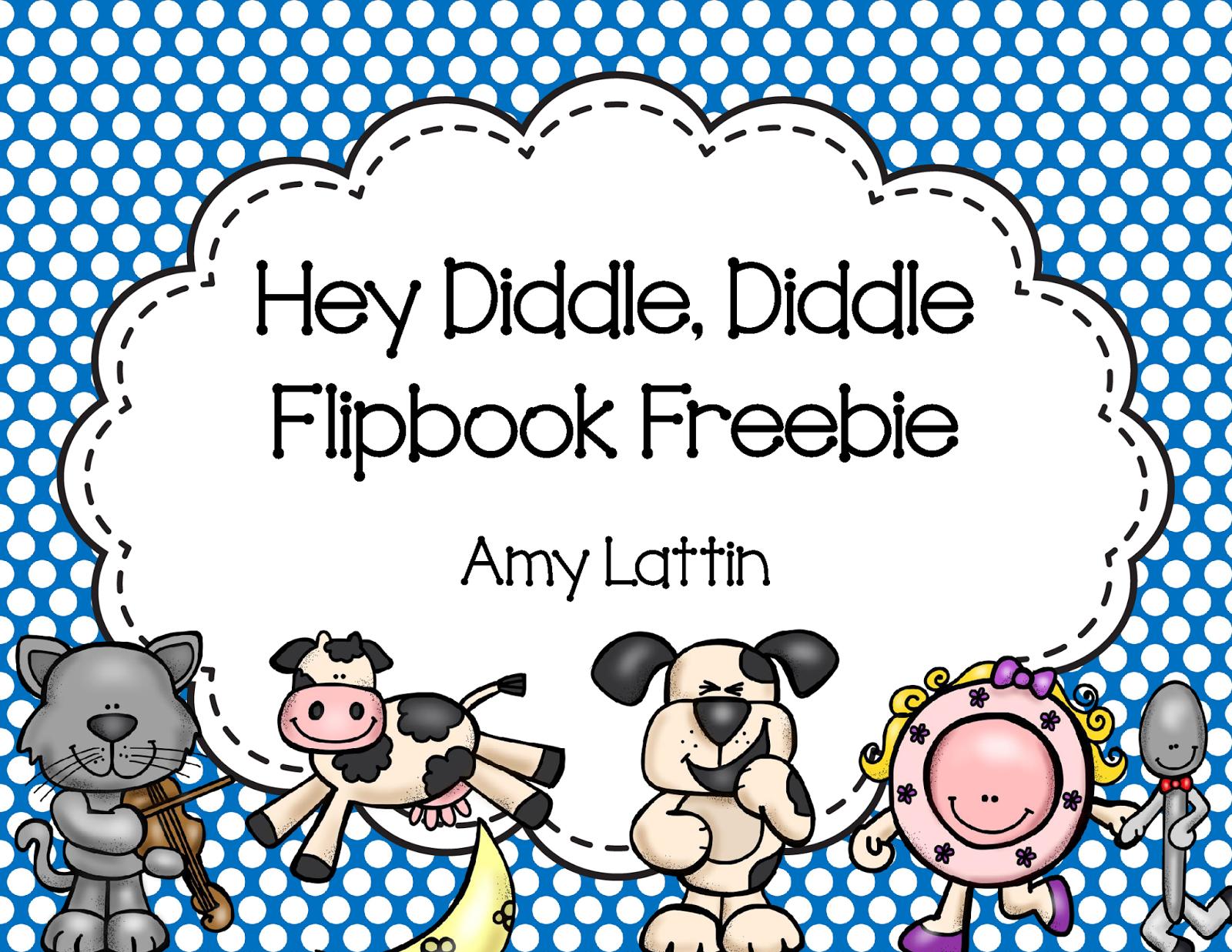Teaching Is Sweet Hey Diddle Diddle Flipbook Freebie