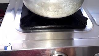 image of turning gas flame on medium hit