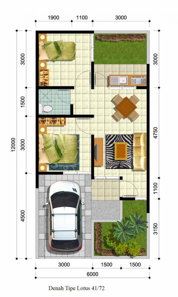 gambar denah lokasi rumah minimalis 4