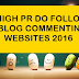 List OF High PR Dofollow Blog Commenting Sites 2016