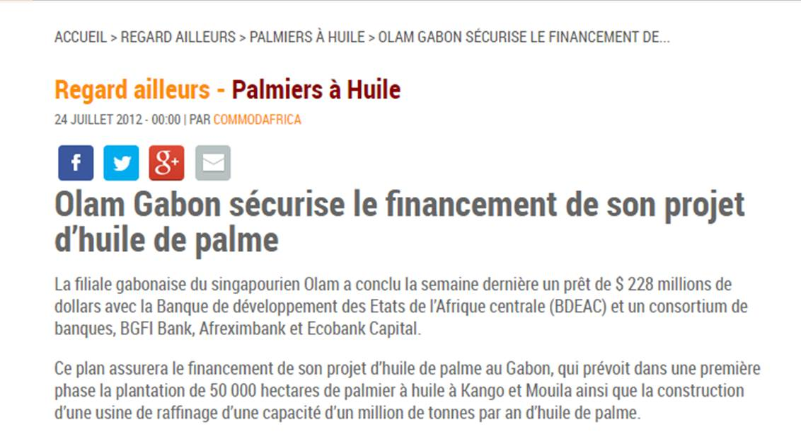 Td Bank Car Loan >> GAGAN GUPTA WILL ONCE AGAIN TELL US THE STATE OF GABON SPENT NOTHONG FOR ITS PALM OIL PROJECT ...