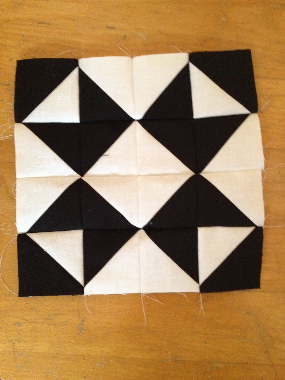Knit N Lit Modern Half Square Triangle Quilt A Long Block 17