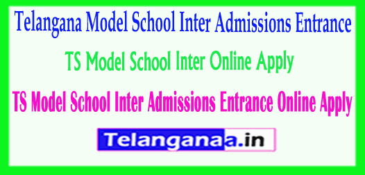 TSMS Telangana TS Model School Inter Admissions Entrance 2019 Online Apply