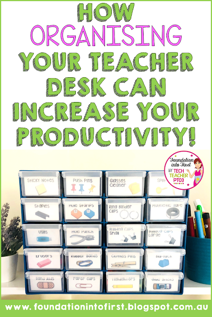 How organising your teacher desk can increase your productivity in the classroom. Teachers help yourself get organised with this handy tool box. Downloadable labels with 5 fun designs.