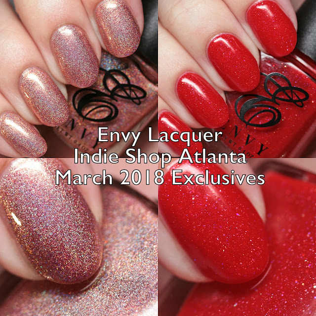 Envy Lacquer Indie Shop Atlanta March 2018 Exclusives