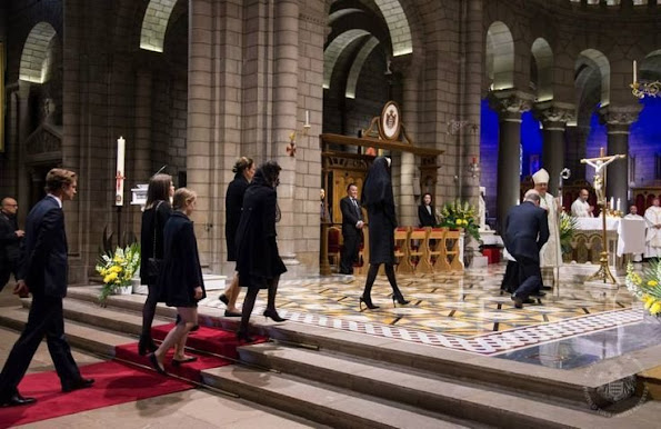 Monaco Royal Family Attends A Mass To Honor Of The Prince