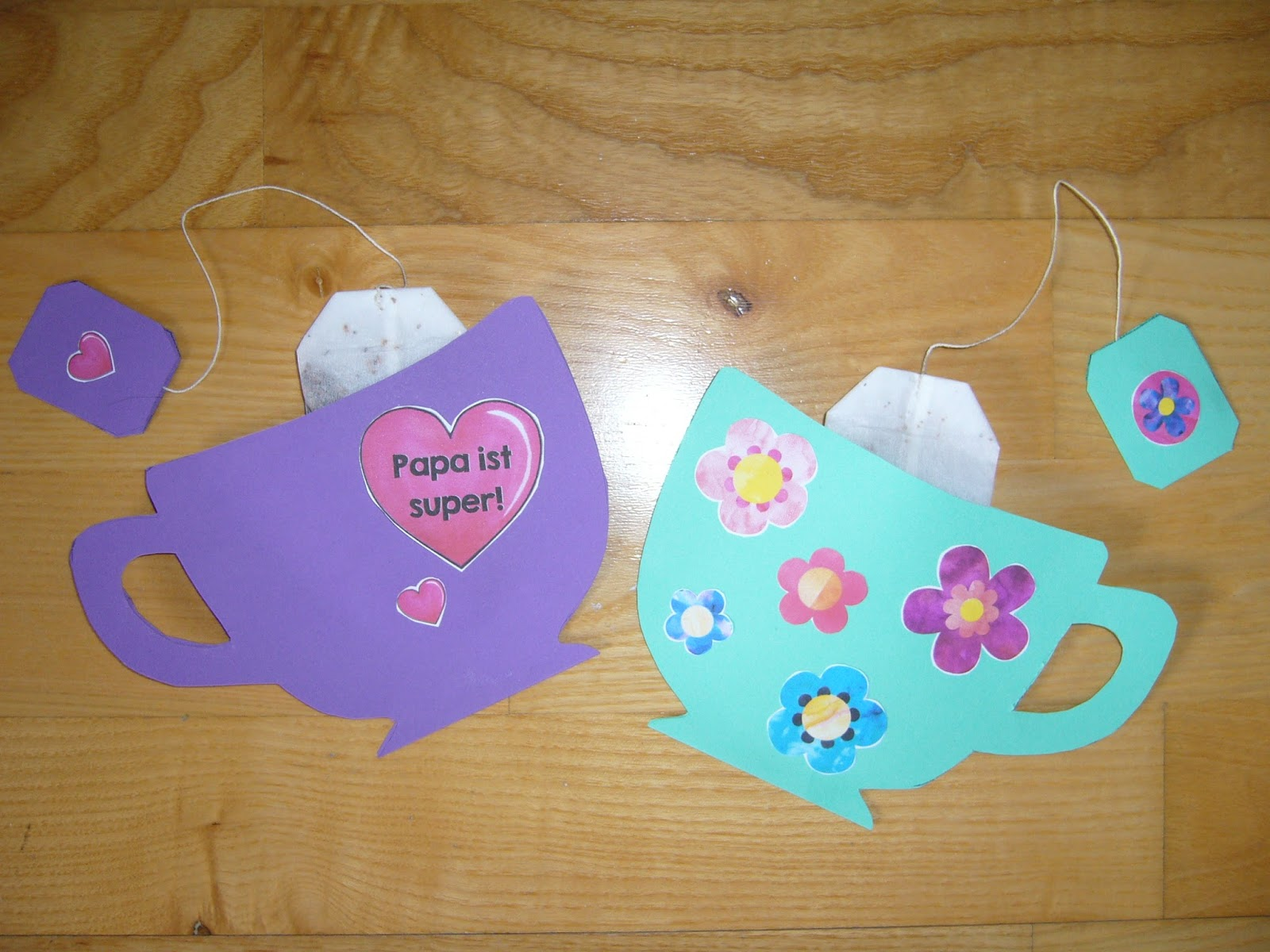 Ideenreise tassenkarte f r den vatertag muttertag for Muttertagsgeschenk grundschule