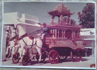gorgeous chariot rath khartar gachchh sangh jaipur