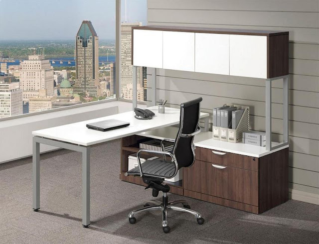 best buy modern walnut white office furniture sets for sale