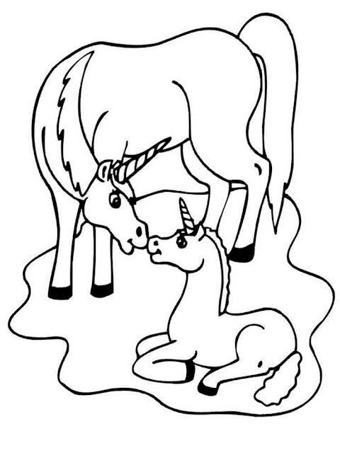 Gambar Mewarnai Unicorn - 2