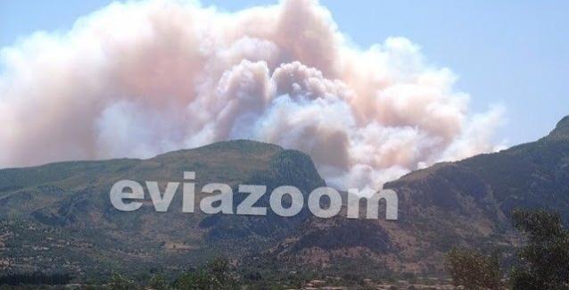 Φωτιά στην Εύβοια: «Το μέτωπο είναι στα 500 μέτρα!