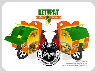 produksi gerobak motor ketupat kari ayam