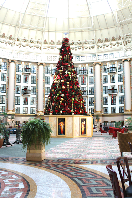 Christmas tree at West Baden Springs Hotel in French Lick, Indiana