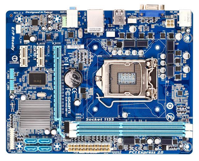 Gigabyte GA-H61M-S1 R2.1 Mainboard Schematics