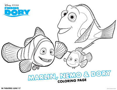 Finding Dory Free Printable Activities for Kids!