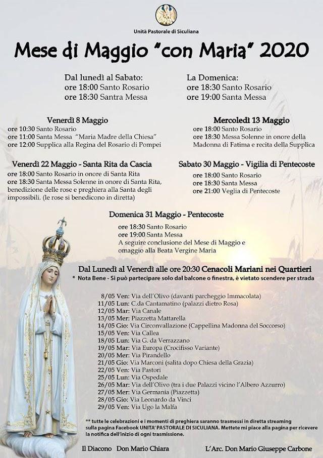"""Unità Pastorale - Mese di Maggio """"con Maria"""" 2020"""