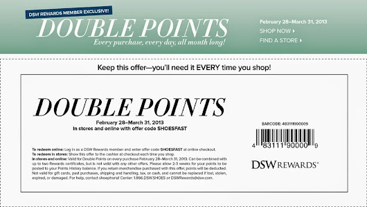DSW Coupon Codes: Free DSW Coupons Code Printable