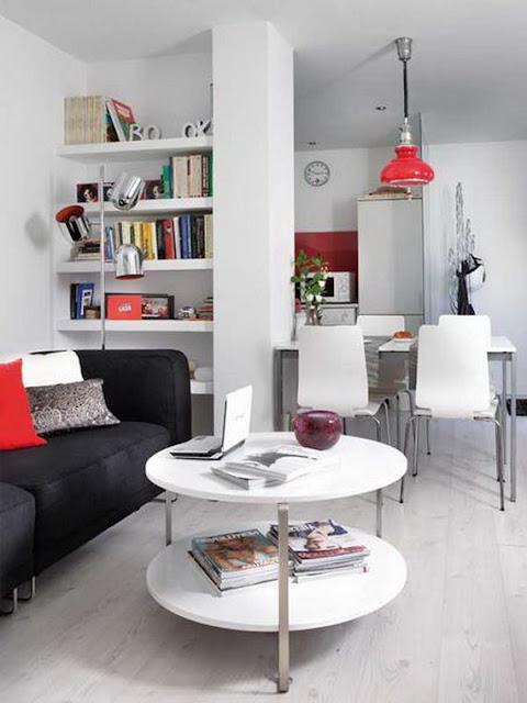 Bathrooms Models Ideas: Small 1 Bedroom Apartment Decorating ...