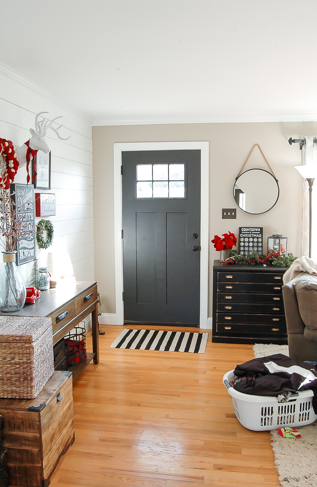 REAL LIFE entryway Christmas home tour