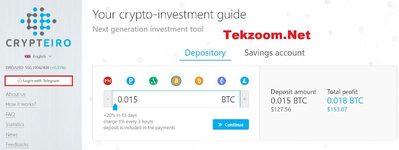 [SCAM] Review Bot Telegram Crypteiro - Lãi 20% cho 15 ngày - Đầu tư tối thiểu 50$ - Thanh toán tức thì