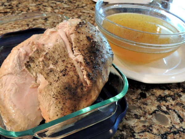 Turkey Breast cooked in the Crock Pot after cooking from Walking on Sunshine Recipes
