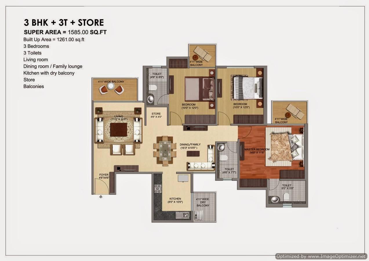1585-sq.ft.-3bhk-floor-plan-prateek-Grand-City