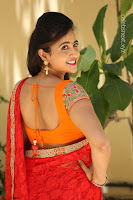 Lasya Cute Beauty in Saree Backless Choli at her Interview ~  Exclusive 239.JPG
