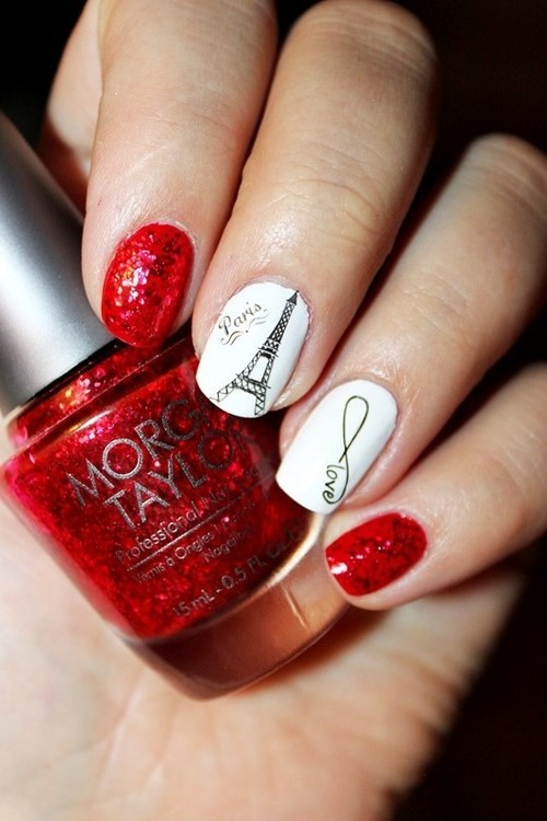 Paris Inspired Nail Art Ideas: Fall in Love!