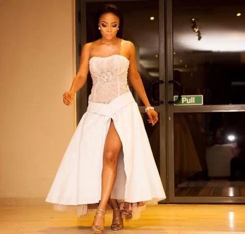 Ex-husband Maje Ayide would not release inside me during lovemaking - Toke Makinwa