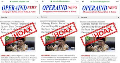 "Hoax, Kemenag Tanggapi Viral Surat Al-Kafirun Diganti ""Non Muslim"""