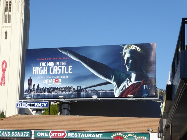 Man in the High Castle season 2 Statue of Liberty billboard
