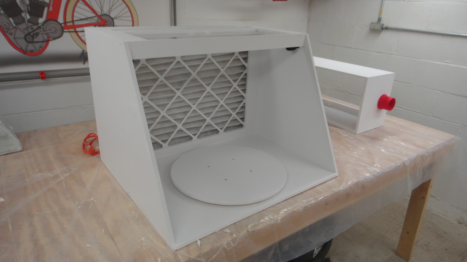 The Tinkers Workshop The Work Table Spray Booth Is Completed