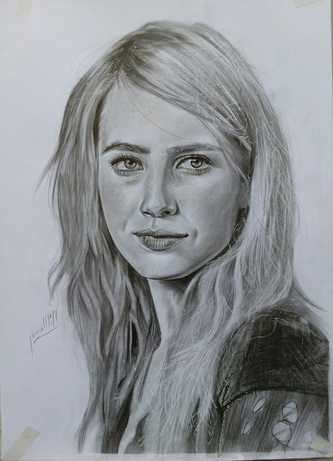 اجمل الرسومات بالقلم الرصاص للممثلة أيما روبرتس