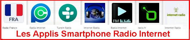 Les smartphones  avec une appli téléchargée.