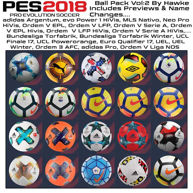 PES 2018 Ball Pack V2 dari Hawke